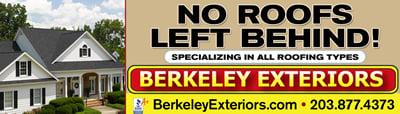 Roofing Billboard - Berkeley Exteriors - CT