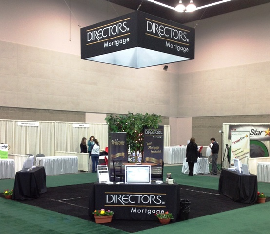 Tradeshow Booth With Hanging Sign
