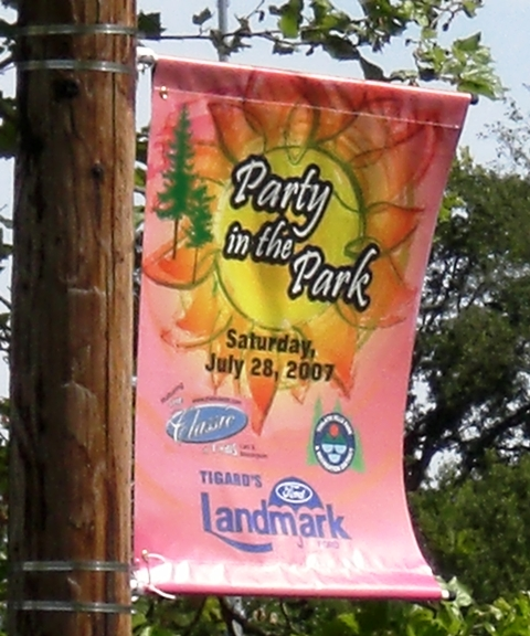 THPRD Party in the Park Boulevard Banners