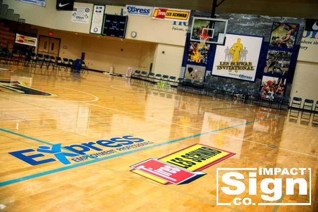 Les Schwab Invitational Floor Decals & Tournament Banners
