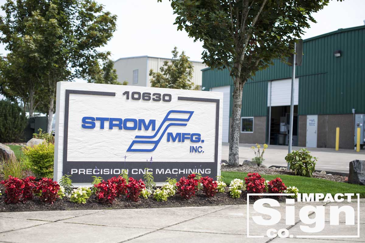 Strom Mfg. Dimensional Letters & Logo Monument Sign