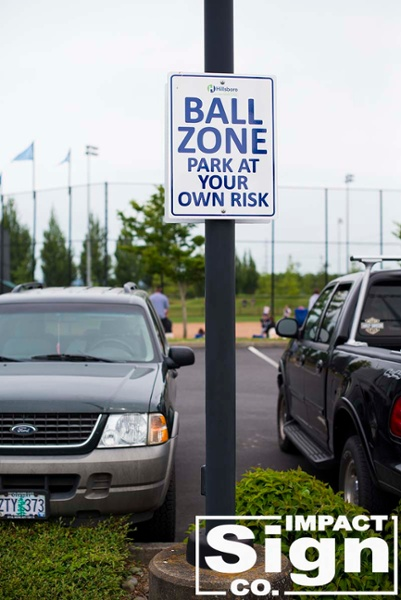 Hillsboro Hops Parking Lot Signs