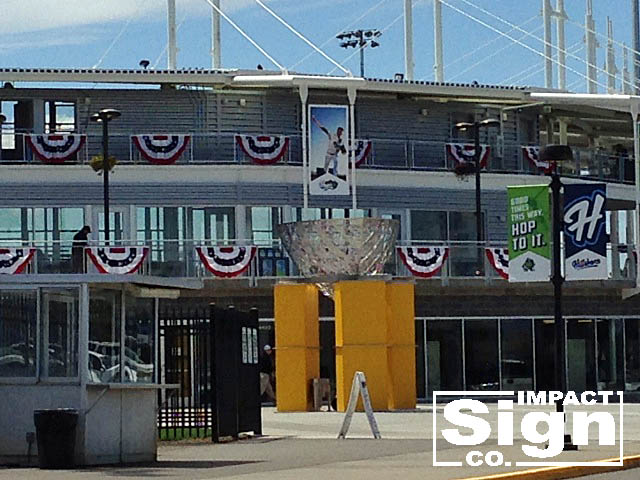 Hillsboro Hops Site Signs