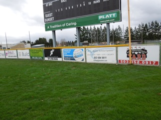 Sunset Field Sponsor Signs