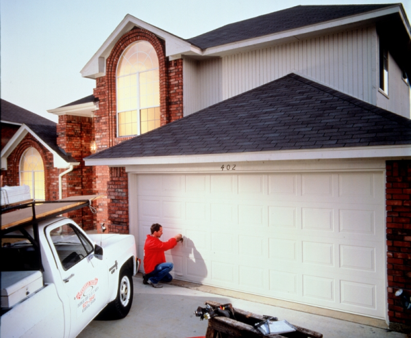 Garage door maintenance inspection