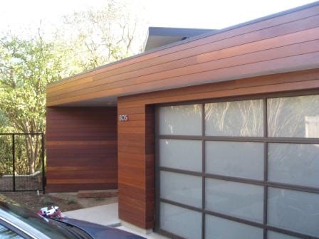 Climate-Shield rain screen with hardwood cladding SoCal