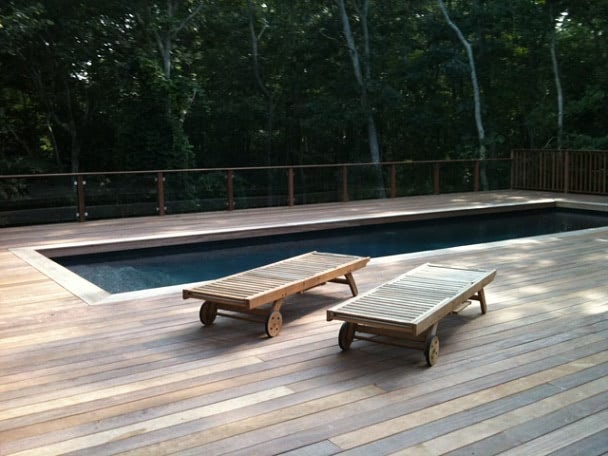 Cumaru decking around pool