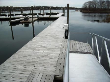 Garapa decking weathers nicely even in harsh marine environments