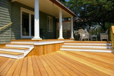 5/4 x 6 Garapa decking uses on deck, stairs and siding
