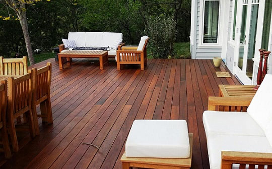Beautiful FSC Certified Machiche hardwood deck