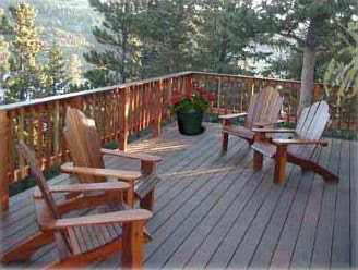 Ipe furniture can complete your ipe deck design with comfort