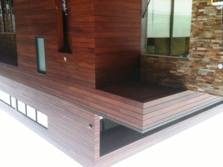FSC Certified Machiche hardwood rainscreen system