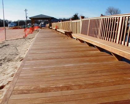 Ipe decking makes for a long lasting and beautiful boardwalk