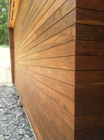 Ipe rainscreen siding a sustainable solution for Architectural wood siding