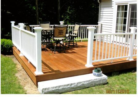 how to build a pressure treated wood railings
