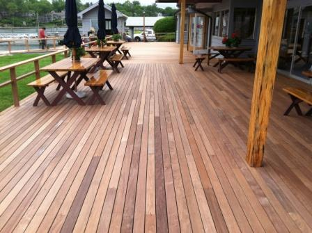 Ipe decking at norwalk yacht club for Ipe decking vs trex