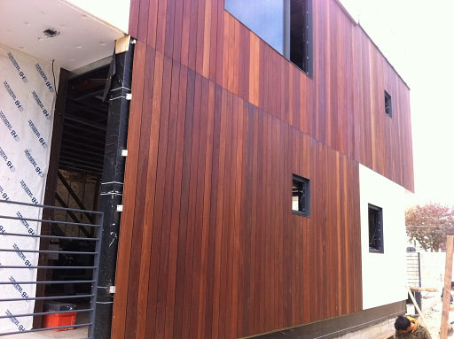 Cumaru Hardwood Rain Screen Siding Gallery
