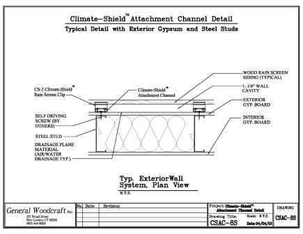 Rain Screen Design Exterior Steel Stud Wall Assembly
