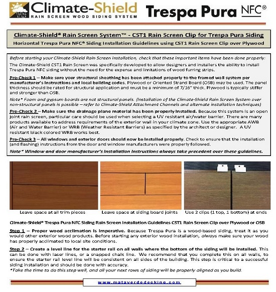 Climate-Shield System Trespa Pura Horizontal Installation Guidelines Over Plywood-1