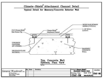 Climate Shield Attachment Channel Concrete wall assembly