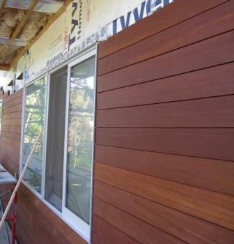 Climate Shield horizontal rain screen wood siding installation