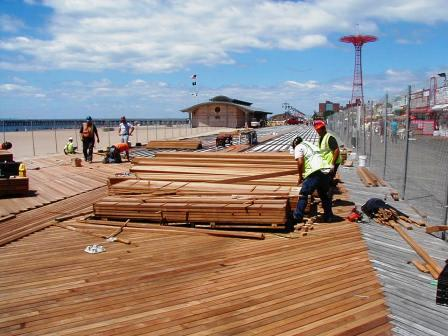 Cumaru decking FSC decking used on Coney Island boardwalk