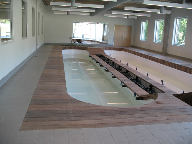 Cumaru decking at pool spa