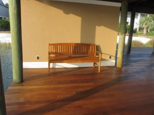 Ipe Bench, Ipe Deck With Ipe Furniture