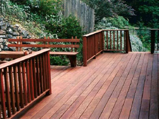 Ipe decking boards and Ipe railing system