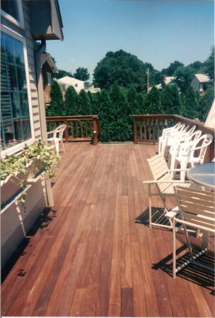 Low maintenance Ipe hardwood decking and Ipe railing