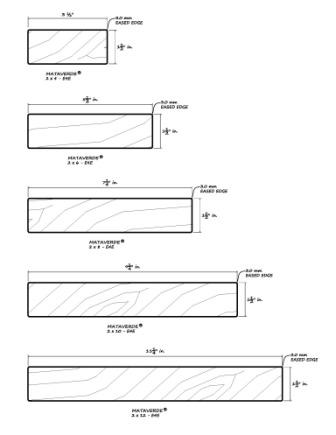 Deck specifications architectural details for Standard deck board lengths