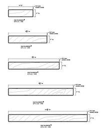 Mataverde  Decking 5 Quarter inch Profiles