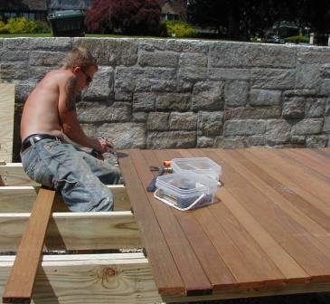 Pre grooved decking installation  Ipe decking with Eb Ty deck fasteners