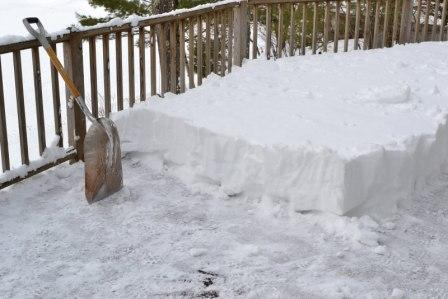 Removing snow from a deck is the right thing to do