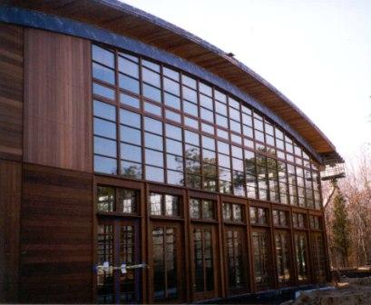 Vertical Ipe wood siding using rainscreen siding prin ciples