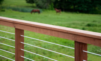 cable rail system for hardwood decking