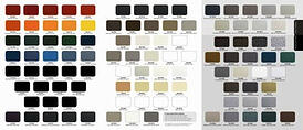 Powder coat color pallette for climate shield corner system
