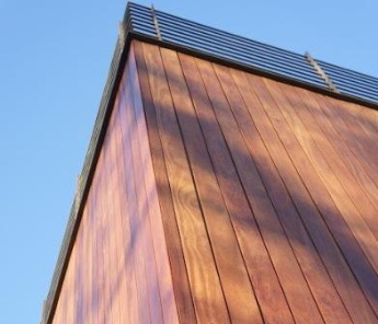 cumaru hardwood siding rainscreen