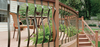 decorative balluster for Ipe deck