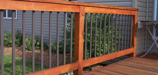 decorative balluster2 for ipe hardwood deck