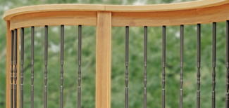 decorative balusters for ipe deck