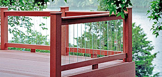 decorative glass baluster for ipe deck