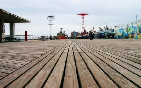 hardwood decking coney island boardwalk