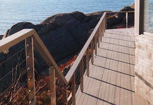 ipe deck, ipe stairs and cable rail system