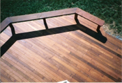 ipe decking with rosewood oil finish