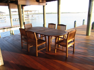 Ipe Wood Outdoor Dining Table, Ipe Wood Chairs And Outdoor Patio Furniture