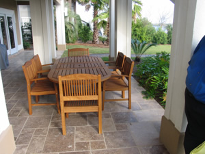 Ipe Outdoor Patio Table And Ipe Outdoor Chairs