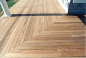 ipe decking  natural finish