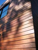 hardwood siding with oil finish