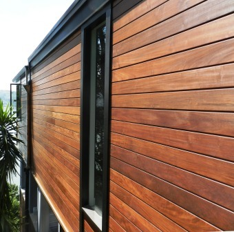 Ipe hardwood siding lasts longer, beautifully